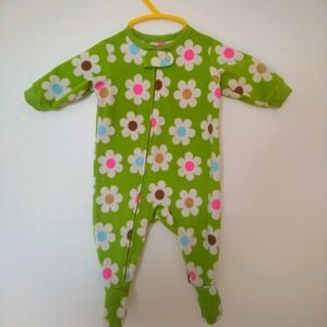 3/10$ CARTERS baby girl flower pajama 3 months